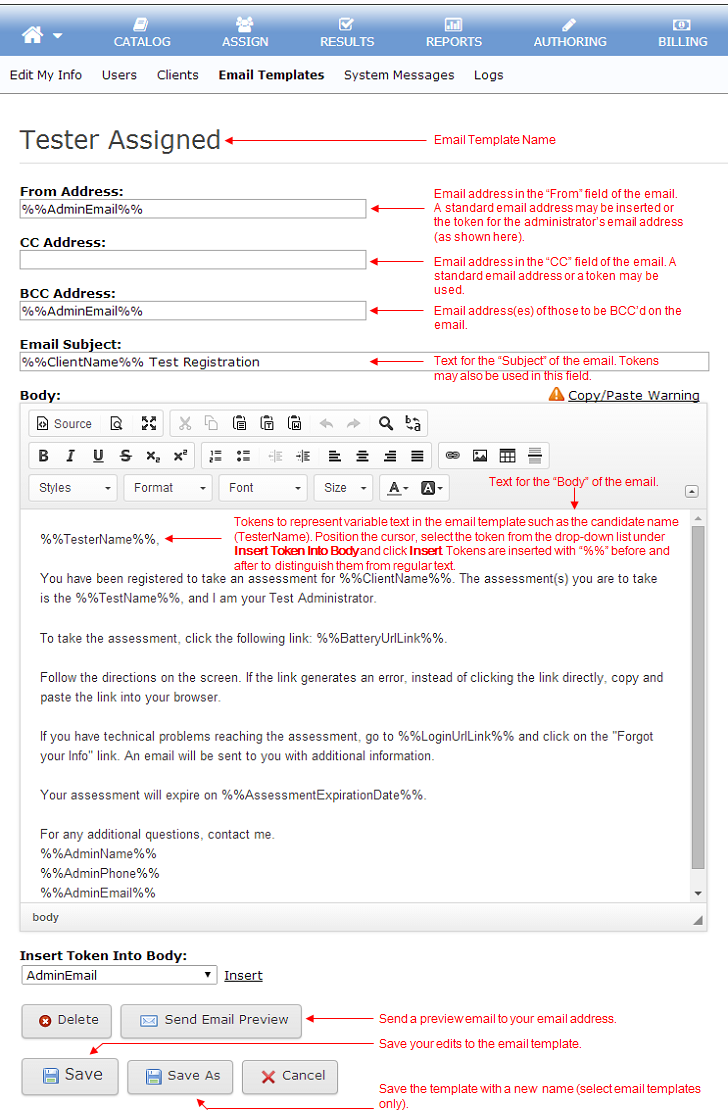 customer support email template - email templates pearson assessment support